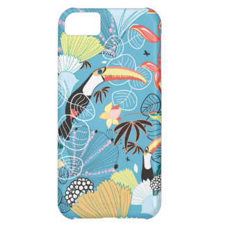 Tropical Texture With Toucans and Hummingbirds Cover For iPhone 5C