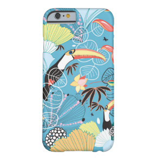 Tropical Texture With Toucans and Hummingbirds iPhone 6 Case