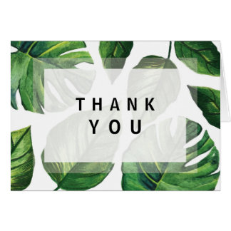 Tropical Thank you note Card