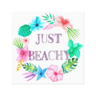 Tropical Theme Canvas for Beach House Florida Home