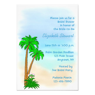 Tropical Theme Invitation