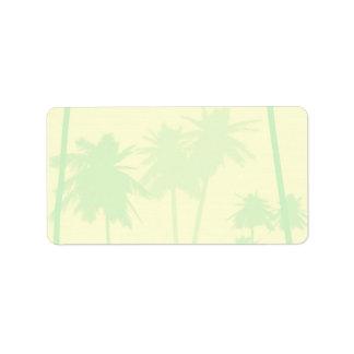 Tropical Theme Wedding Label