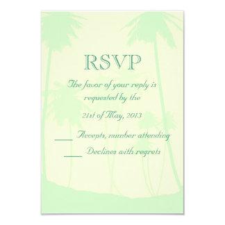 Tropical Theme Wedding RSVP 3.5x5 Paper Invitation Card