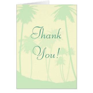 Tropical Theme Wedding Thank You Card