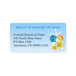 Tropical Themed Christian Church Address Labels