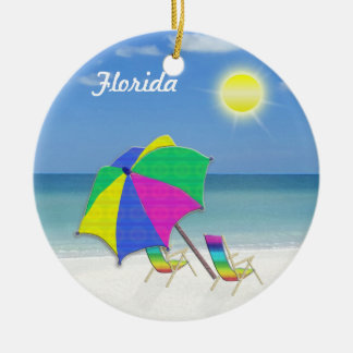 Tropical Themed Christmas Ornaments from Florida