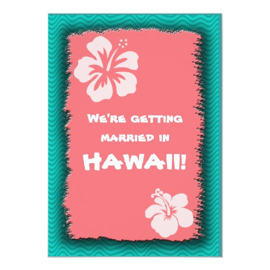Tropical Themed Custom Invite or Announcement