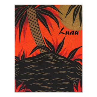 Tropical Themed Party Luau Tiki Island Invitations