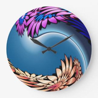 Tropical Tidal Wave Large Clock