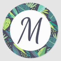 Tropical Tidings Monogram Stickers