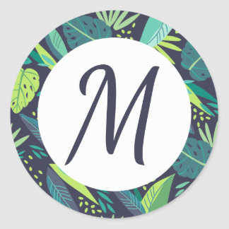 Tropical Tidings Monogram Stickers