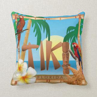 Tropical Tiki Design Throw Pillow