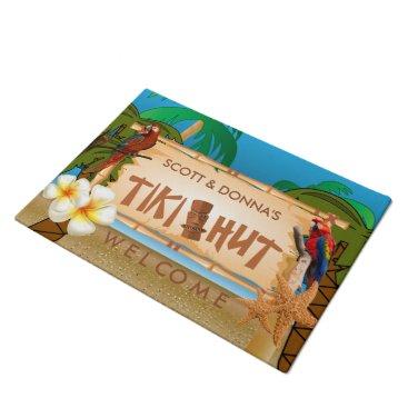 DesignsbyDonnaSiggy Tropical Tiki Hut Design Doormat