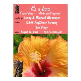 Tropical Tiki Luau Party Card