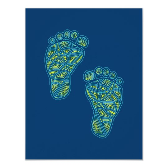 Tropical Toes Baby Shower Invitation