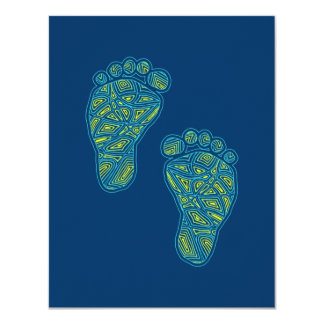 """Tropical Toes Baby Shower Invitation 4.25"""" X 5.5"""" Invitation Card"""