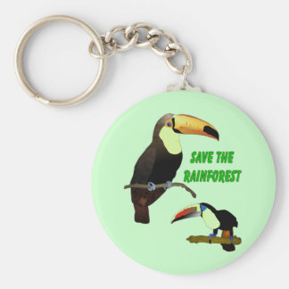Tropical Toucan Basic Round Button Keychain