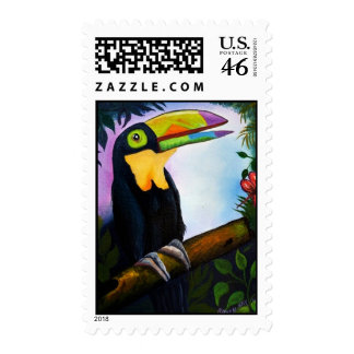 Tropical toucan beauty postage