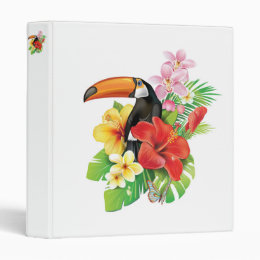 Tropical Toucan Collage Binder