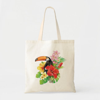 Tropical Toucan Collage Budget Tote Bag