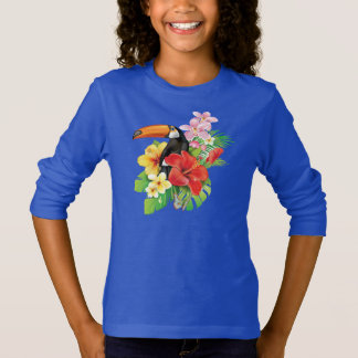 Tropical Toucan Collage Long Sleeve T-Shirt