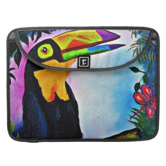 Tropical Toucan folk art Macbook Pro Sleeve