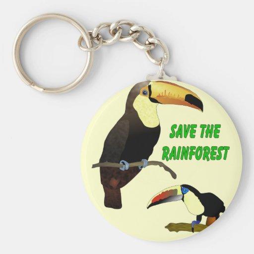 Tropical Toucan Keychain