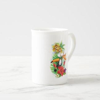 Tropical Toucan (left) Tea Cup