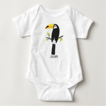 Tropical Toucan Personalized Kids Baby Bodysuit