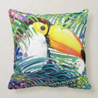 Tropical Toucan Pillow