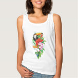 Tropical Toucan (right) White Tank Top