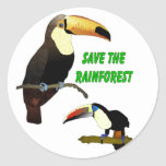 Tropical Toucan Round Stickers