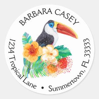 Tropical Toucan Watercolor Return Address Label