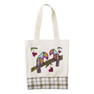 Tropical Toucans Zazzle HEART Tote Bag