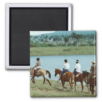Tropical Trail Ride 2 Inch Square Magnet