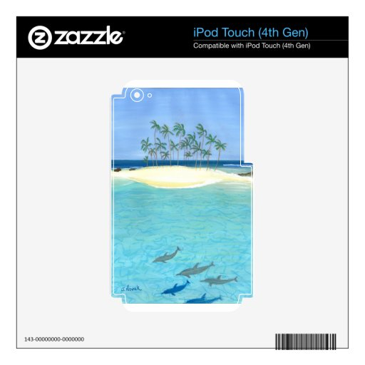 Tropical Tranquility Decals For iPod Touch 4G