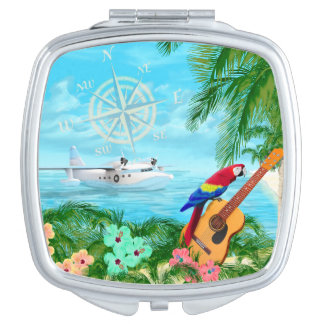 Tropical Travels Compact Mirror