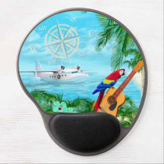 Tropical Travels Gel Mouse Pad