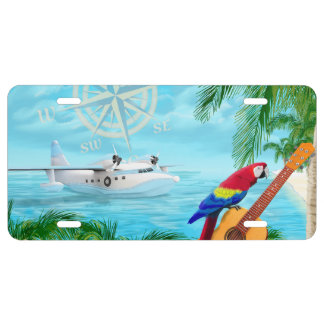 Tropical Travels License Plate
