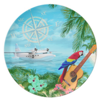 Tropical Travels Plate