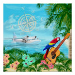 Tropical Travels Poster at Zazzle