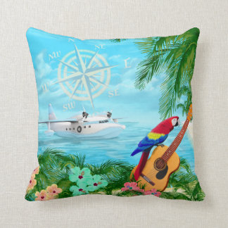 Tropical Travels Throw Pillow