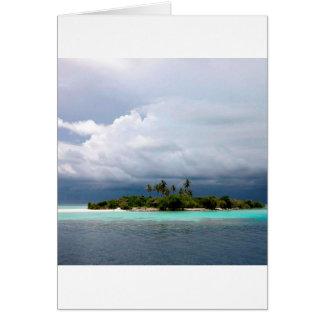 Tropical Treasure Cove Island Greeting Card