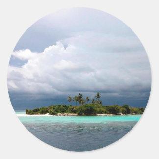 Tropical Treasure Cove Island Classic Round Sticker