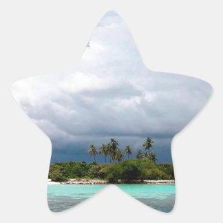 Tropical Treasure Cove Island Star Sticker