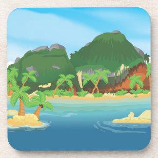 Tropical Treasure Island Beverage Coaster