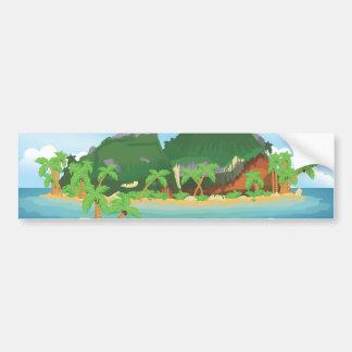 Tropical Treasure Island Bumper Sticker