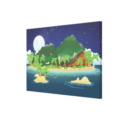 Tropical Treasure Island Canvas Print