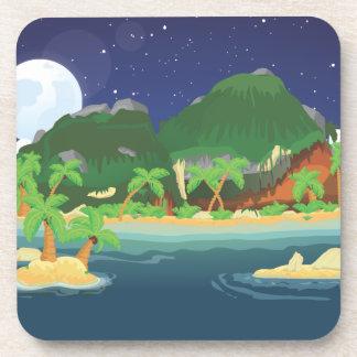Tropical Treasure Island Drink Coaster