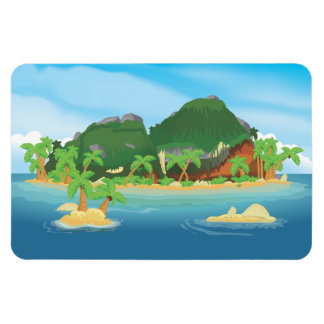 Tropical Treasure Island Magnet
